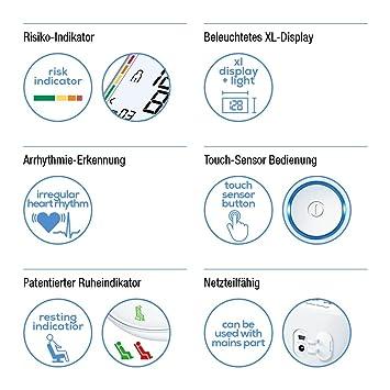 Beurer BM 55 - Tensiómetro de brazo, memoria 2 x 60 mediciones, conexión a PC: Amazon.es: Salud y cuidado personal