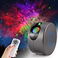 OKJ LED Galaxy Night Light Projector,3D Nebula Star Sky Projector, 360° Rotation+7 Colours LED Projection Lamp with…