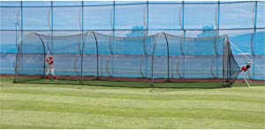 Heater Sports Xtender 36' Baseball and Softball Batting Cage Net and Frame, with Built in Pitching Machine Harness for Safety (Machine NOT Included)