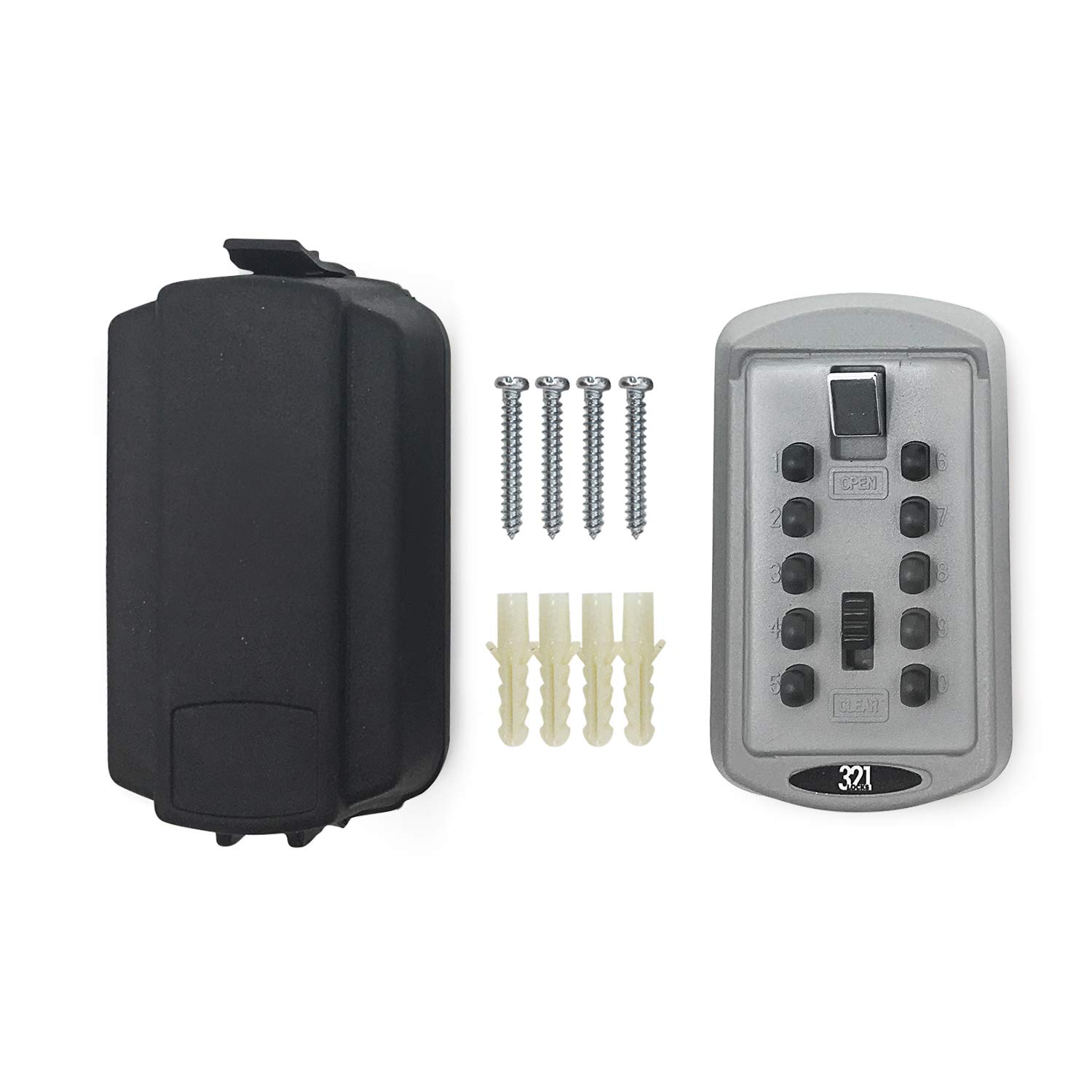 358bc89c17ca LB-30 Key Lock Box Wall Mounted Key Safe - 4 Pin Combination -for Home,  Work, Office, Construction Site, Schools - Outdoor Master Key Security