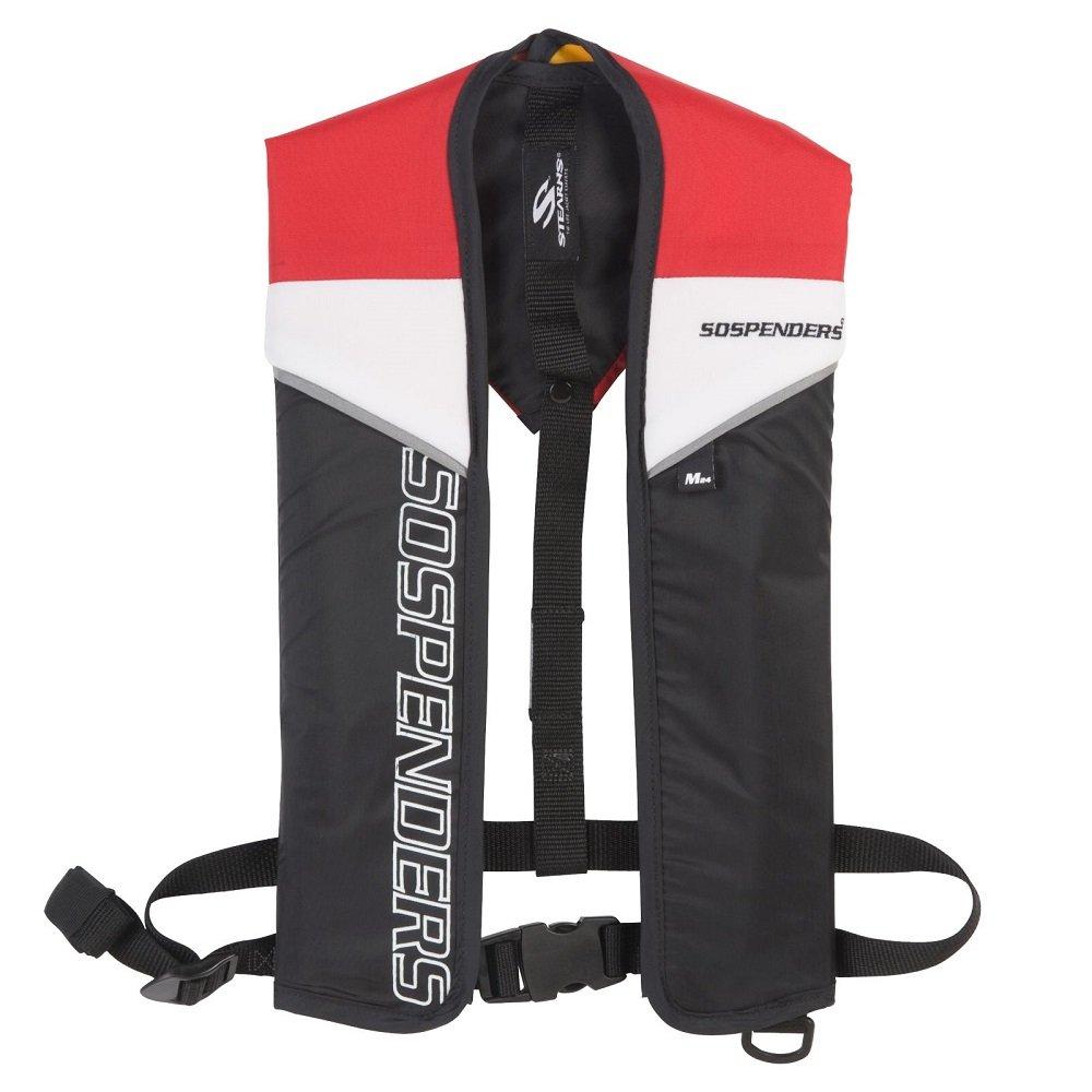 スターンズ - サスペンダーマニュアルインフレータブルライフジャケット、赤   B004D327KQ