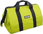 Ryobi 18in x 12in x 12in Contractors Heavy Duty Green Tool Bag (Renewed)