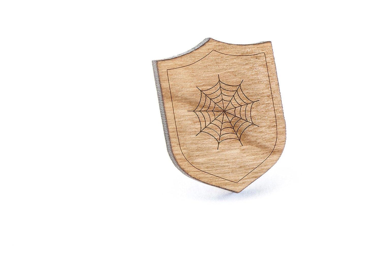 Wooden Pin Cobweb Lapel Pin