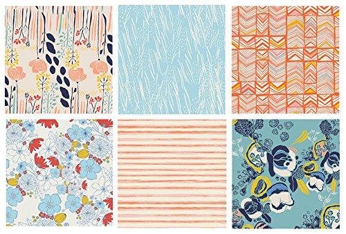 6-fabric-bundle-meadow-leah-duncan-art-gallery-fabrics-flowers-blue-orange-garden-fat-quarters