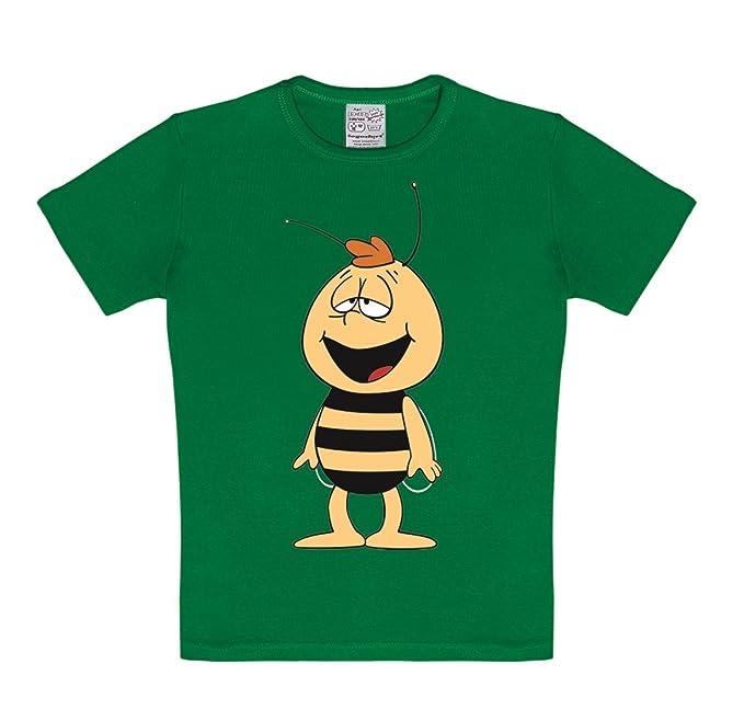 Logoshirt Camiseta para niño Willy - La Abeja Maya - Die Biene Maja - Willi  - Camiseta con cuello redondo Verde - Diseño original con licencia   Amazon.es  ... 6c31473e62dd4