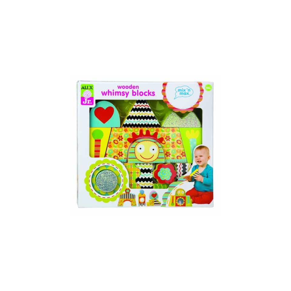 Alex Jr. Mix N Max Wooden Whimsy Blocks Baby Toy Toys & Games