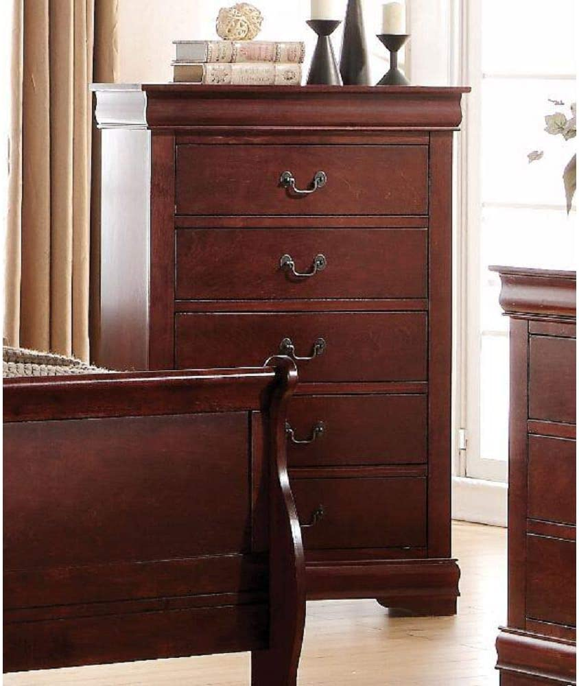 Acme Louis Philippe Chest in Cherry 23756
