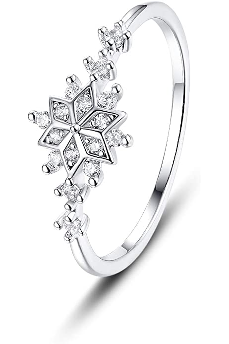Handmade Jewelry. Silver Adjustable Ring Holiday Jewelry Snowflake Ring Snow Flake Ring Christmas Ring