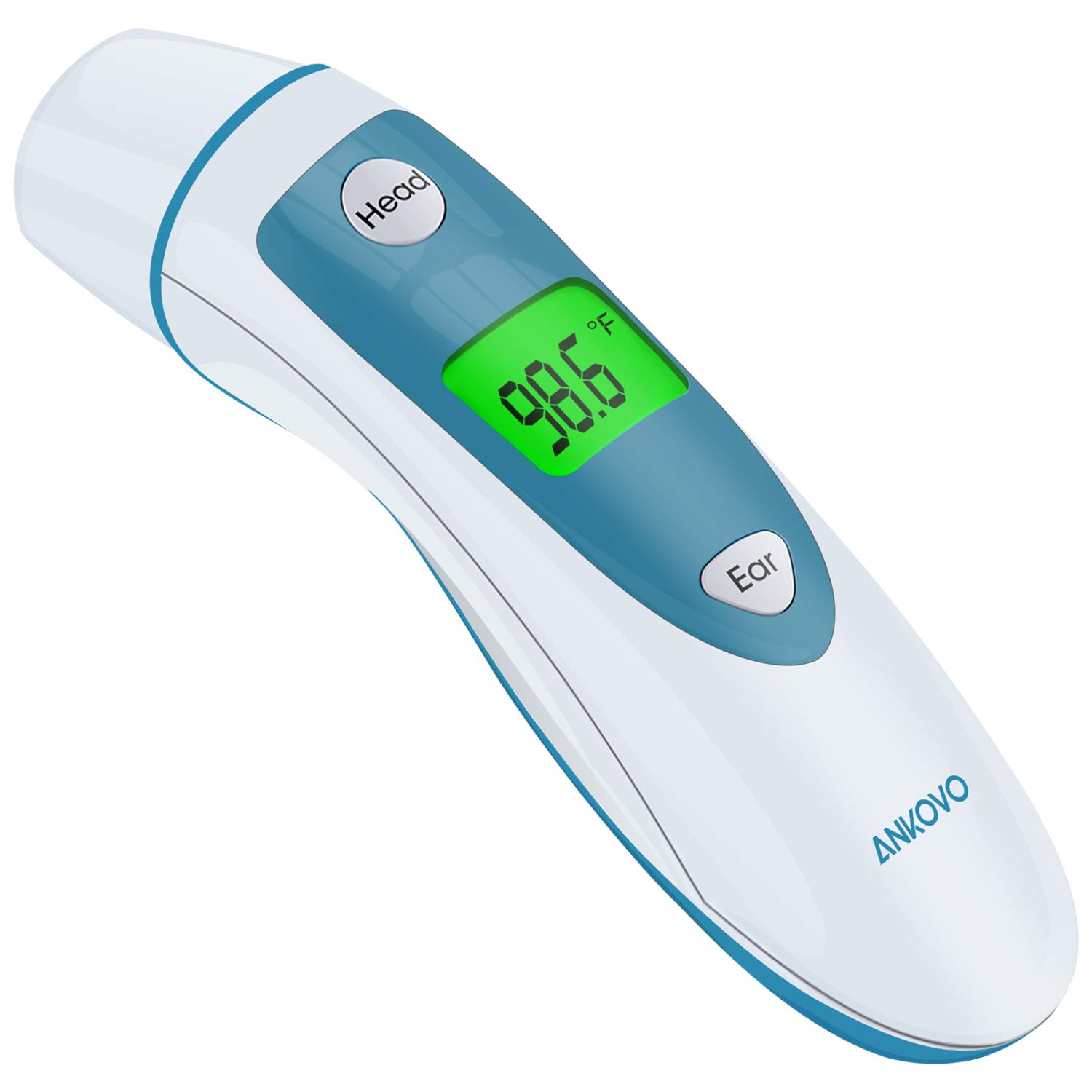 Baby Thermometer for Fever, Forehead and Ear Thermometer Adults, Temporal Digital Thermometer Medical with Instant Read Infrared Thermometers for Adults, Kids and Infants, Blue by ANKOVO