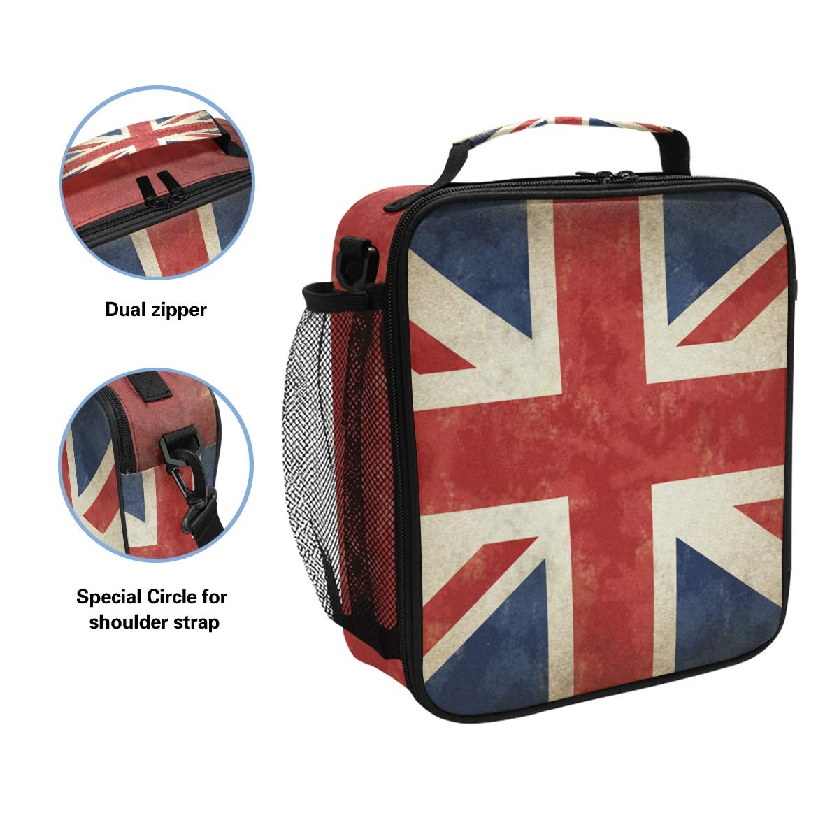 cf82014009e5 Amazon.com: TropicalLife Lunch Bag Insulated Vintage UK Flags Union ...