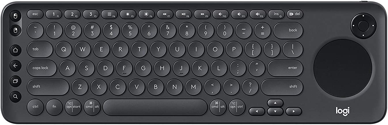 Logitech K600 TV – Teclado de TV con panel táctil integrado y D-Pad compatible con Smart TV US Layout no UK (Enewed) ...