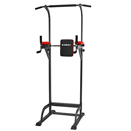 Peach Tree Power Tower Pull Up Bar Tower Dip Stands Fitness Gym Office  (Black)