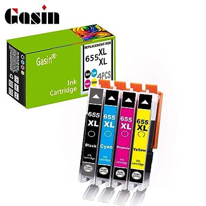Gasin Cartucho de tinta compatible para HP 655 xl con chip para HP ...