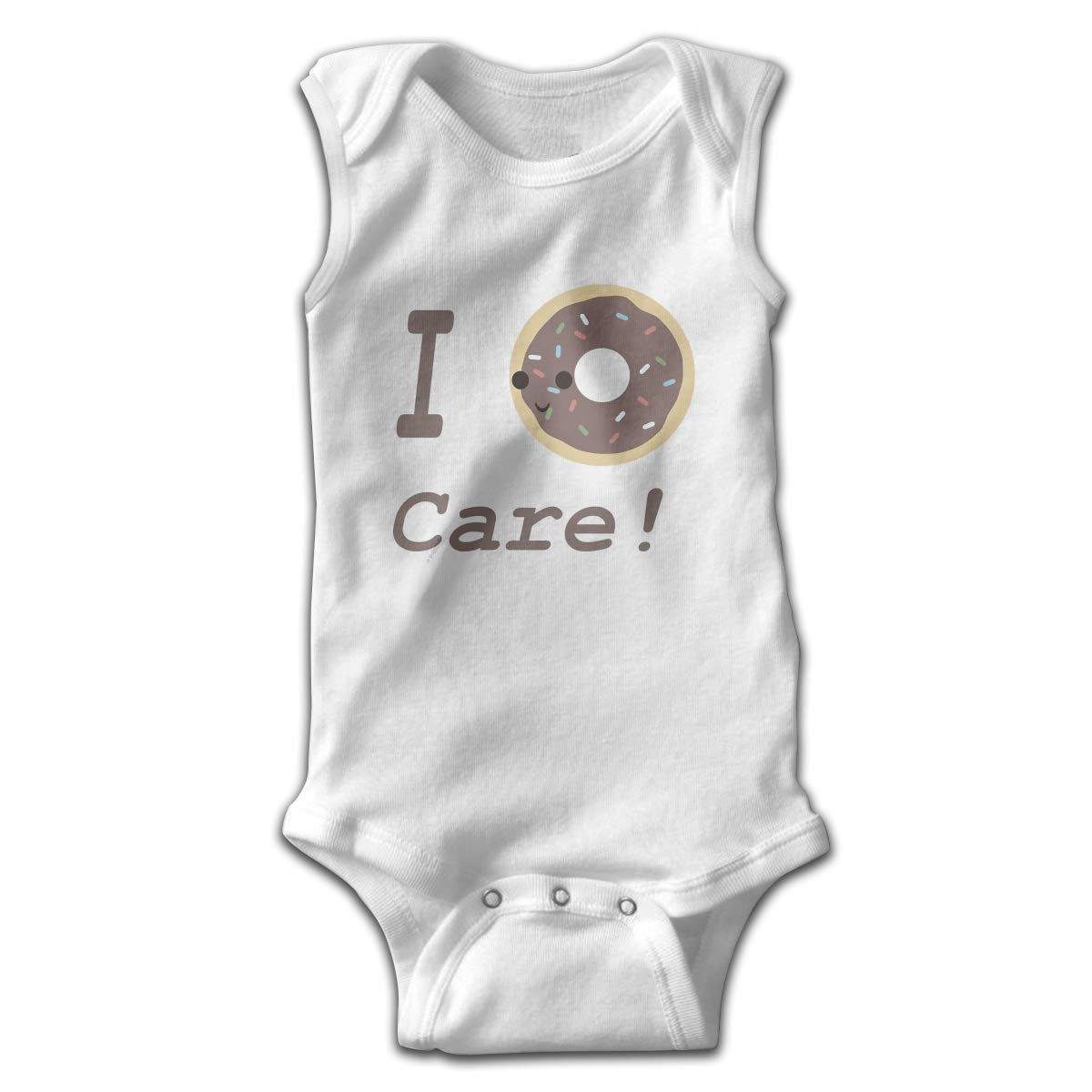 Efbj Toddler Baby Girls Rompers Sleeveless Cotton Onesie,I Donut Care Outfit Summer Pajamas