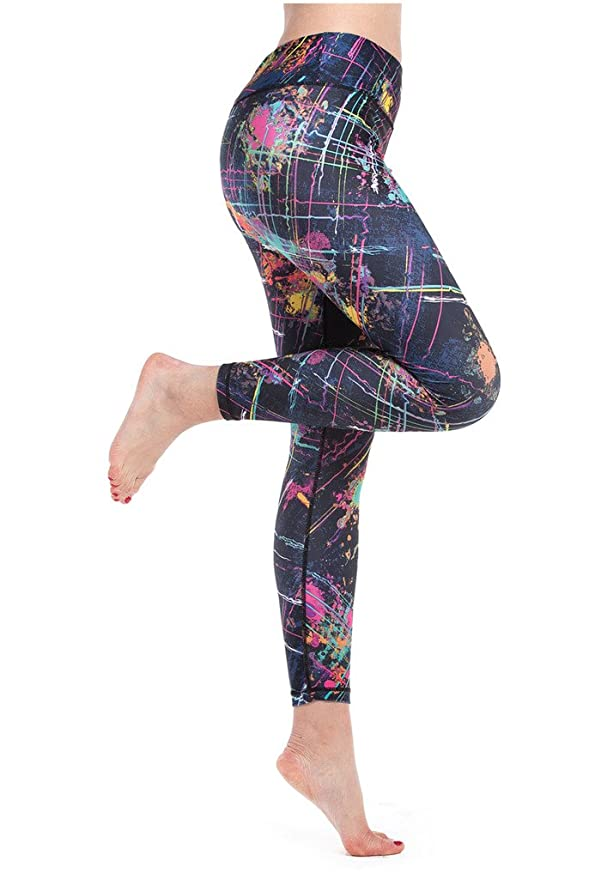 a3786b4703 Lotus Instyle Women's Galaxy Fireworks Painting Print Active Yoga Leggings  Pants Colorful-XL: Amazon.co.uk: Clothing