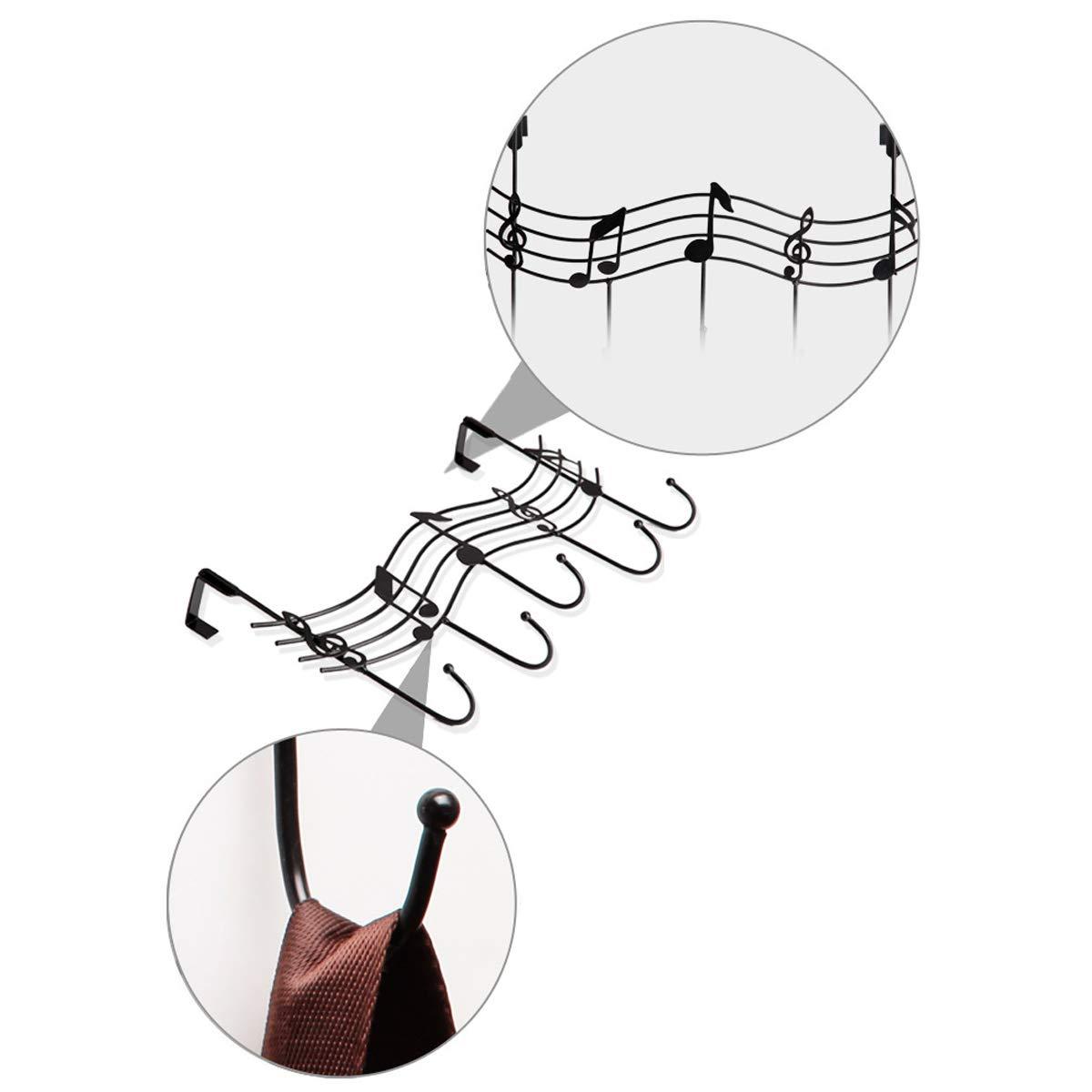 Musewanna Blanco sin Nariz Perchero de Hierro Forjado para Puerta de Instrumento Musical detr/ás del Gancho