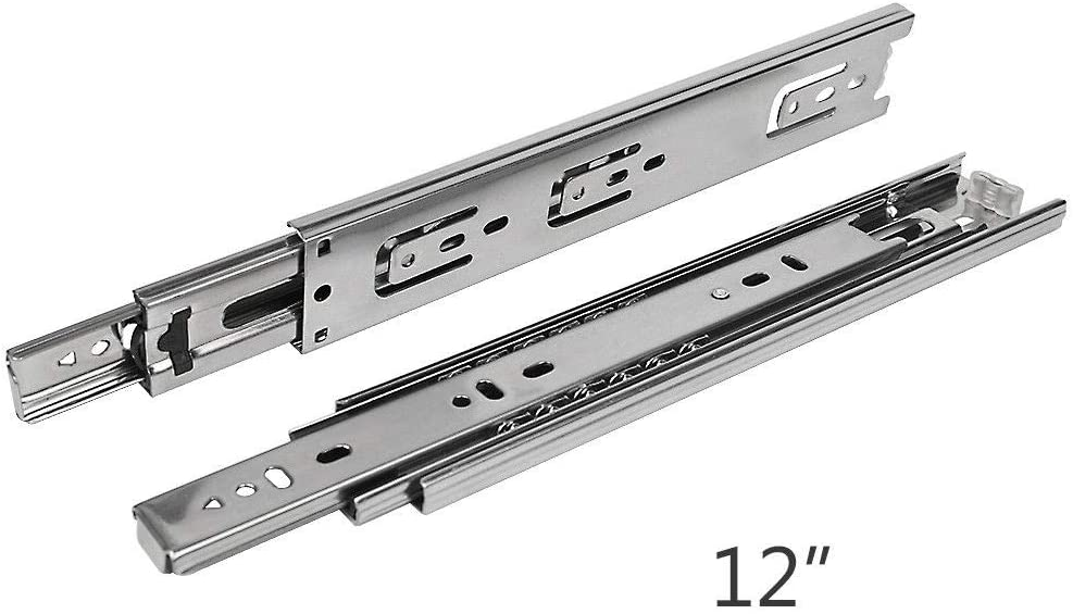 Hardware Resources 303-50-24 303 Series 24 Inch Full Extension Side Mount Ball Bearing Drawer Slide with 100 Lbs Pair Weight Capacity
