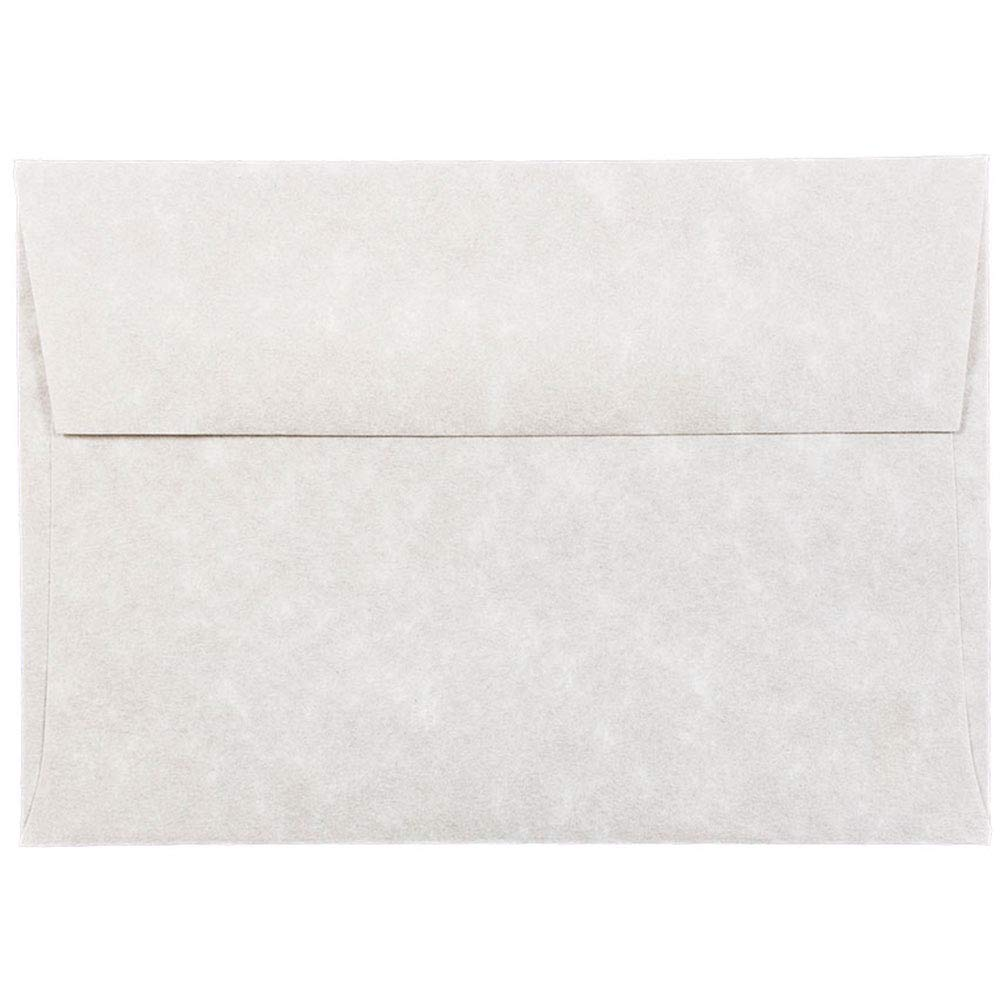 JAM PAPER 4Bar A1 Parchment Invitation Envelopes - 3 5/8 x 5 1/8 - Pewter Gray Recycled - 50/Pack