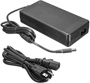 19.5V 12.3A 240W New Replacement AC Computer Laptop Charger Power Supply Compatible with Dell Alienware M17X 15 R1 R2 R5 Precision 7510 330-4128, 330-3514, J938H, Y044M, U896K, J211H, PA-9E M6400