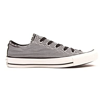 a2d2be68936b Converse Black   White All Star Canvas Ox Striped Women s Plimsoll Shoe  Stars ...