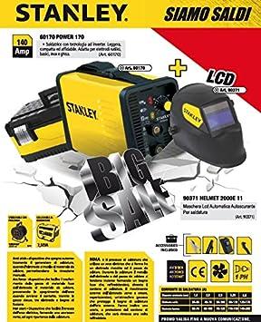 Kit soldadura eléctrica Inversor Stanley 140 A Maletín Máscara 7042lcd: Amazon.es: Bricolaje y herramientas