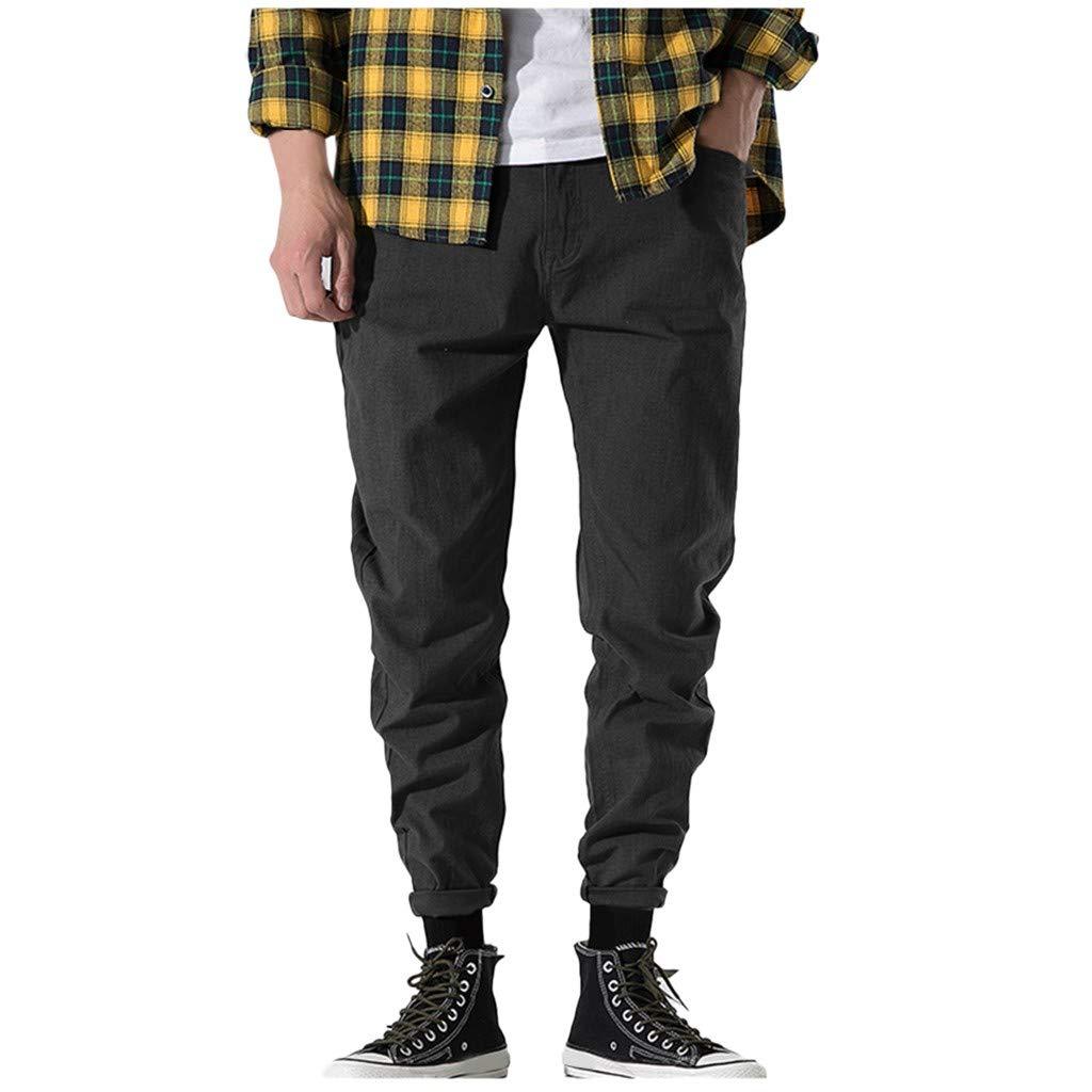 Pantalones Hombres Pantalones Cargo para Hombres Pantalones de camuflaje de viaje Pantalones para Hombre Pantalones Gray by Alalaso