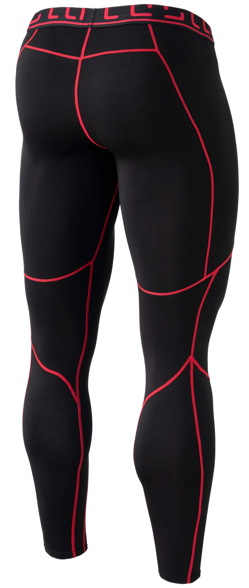 TSLA TM-YUP43-KKR_3X-Large Men's Emboss Pants Thermal Wintergear Compression Baselayer Sports Leggings YUP43 by TSLA (Image #2)