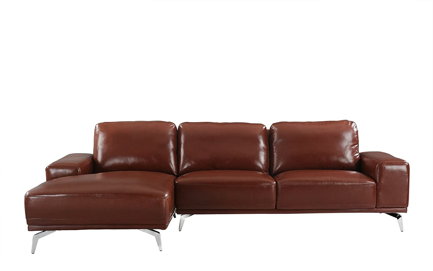 Amazoncom Divano Roma Furniture Modern Real Leather Sectional