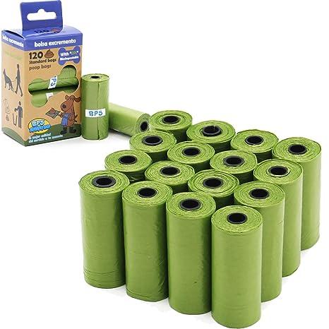 BPS 240/255 Bolsas de Caca Biodegradables para Perro, Bolsas para excrementos de Perro Mascotas Animales Domésticos (240 Bolsas Sin Dispensador) ...