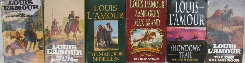Author Louis L'Amour Six Book Bundle Colletion, Includes