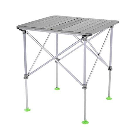 Docooler Height Adjustable Outdoor Folding Table Portable Aluminum Alloy Camping  Table Picnic Table With Carry Bag