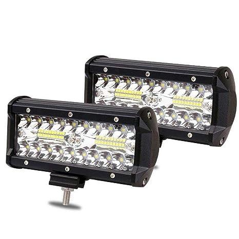 YJiaJu Luces de trabajo LED 120W Barra de luz LED Luces de ...