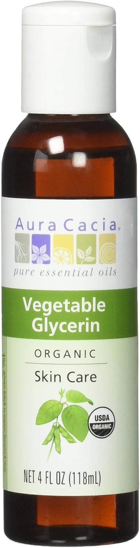 Aura Cacia Organic Skin Care Oil, Vegetable Glycerin, 4 Fluid Ounce