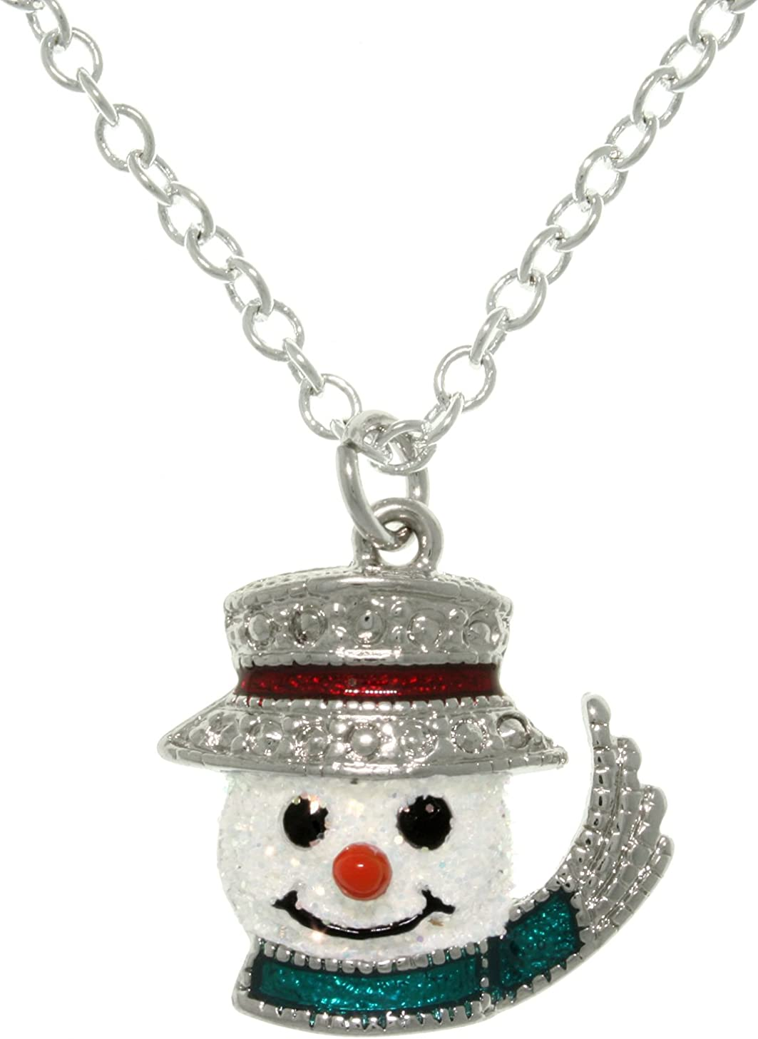 SNOWMAN NECKLACE Pewter Charm on a FREE Plated Chain