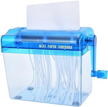 manuale mini distruggi documenti portatile formato A6 Befitery sicurezza per casa e ufficio Blau