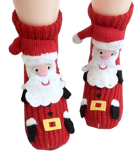 Black Temptation Calcetines lindos Calcetines antideslizantes Inicio Zapatos Engrosamiento Calcetines de Navidad, K2