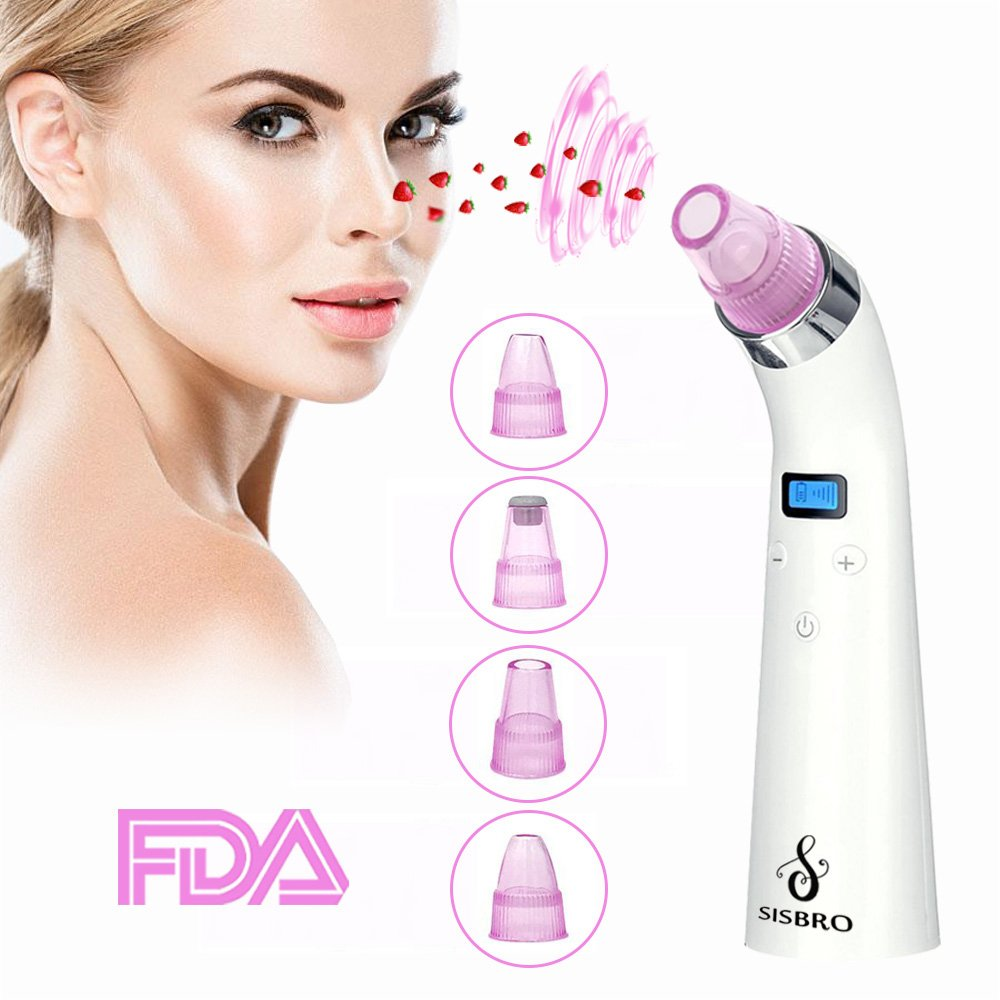 Blackhead Remover, Sisbro Electric Blackhead Vacuum Cleaner Comedone Suction Microdermabrasion Machine, Rechargeable Acne Pore Cleanser Blackhead Removal Tool Kit
