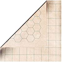 Chessex Role Playing Play Mat: Battlemat Double-Sided Reversible Mat for RPGs and Miniature Figure Games-Squares/Hexes
