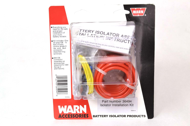 Amazoncom Warn 36494 Isolator Connector Kit Automotive Gm Battery Wiring