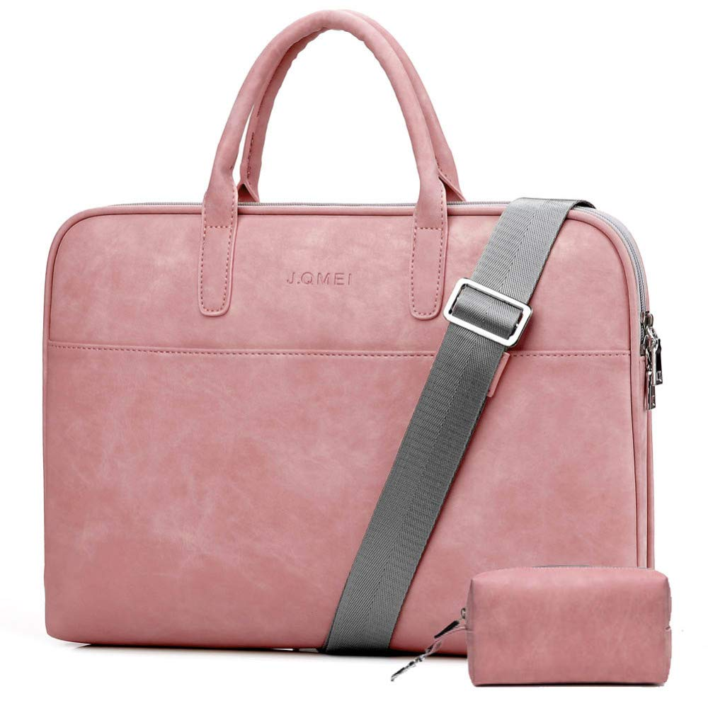 """LXIANGP Women's Laptop Bag Fashion PU Leather Briefcase Waterproof and Wearable Shoulder Bag Diagonal Package Tablet Bag Student Work to use (13""""14""""15""""17"""")"""