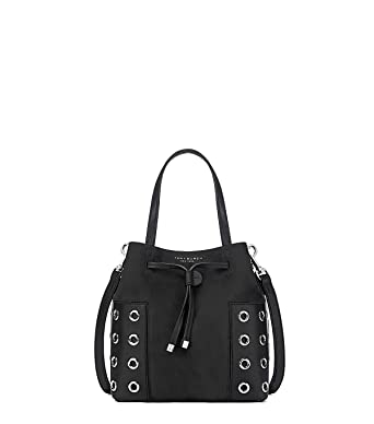ac39a155e088 Image Unavailable. Image not available for. Color  Tory Burch Women s Block  T Grommet Nano Bucket Bag ...