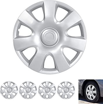 "Thin Dual Spokes Hubcaps for Car Accessories Wheel Covers Snap Clip-On Auto Tire Rim Replacement for 16 inch Wheels 16/"" Hub Caps BDK Wheel Guards 4 Pack"