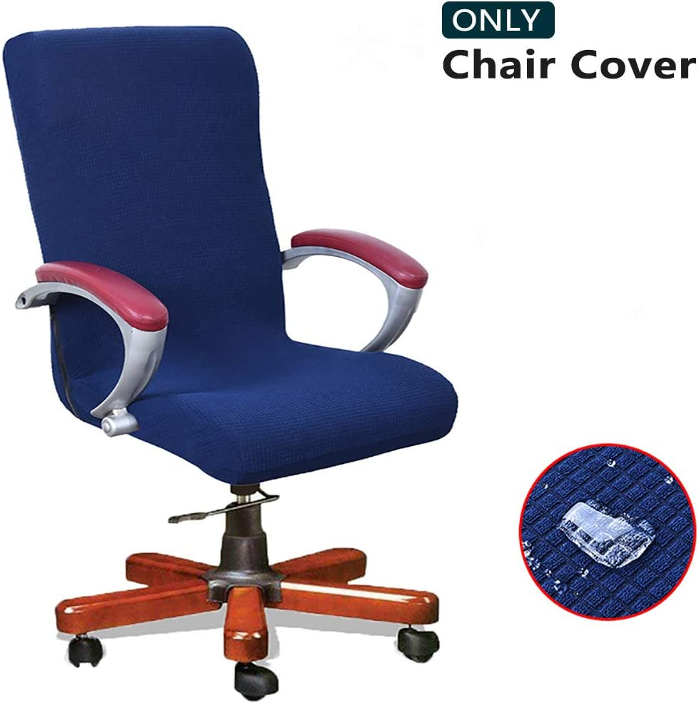Melaluxe Water-Repellent Office Chair Cover - Universal Stretch Jacquard High Back Desk Chair Cover, Computer Chair Slipcovers (Size: L)