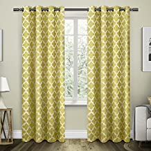 Exclusive Home Curtains Neptune Cotton Grommet Top Window Curtain Panel Pair, Sundress, 54x96