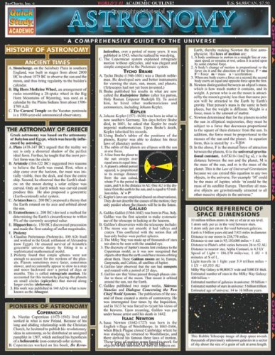 Astronomy (Quickstudy Reference Guides - Academic)