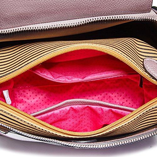 Barbie BBFB498 Bolso con remache de Piel brillante Bolso bandorela de Serie Elegante Bolsos baguettede mujer Violeta