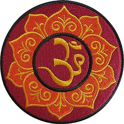 Bordado de hierro en parche Sew hindú en insignia Buda budista Hippie Aum Om Yoga