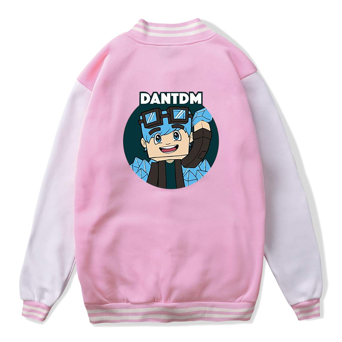 LianLiYa Teens The Diamond Minecart DanTDM Bomber Jacket Outerwear