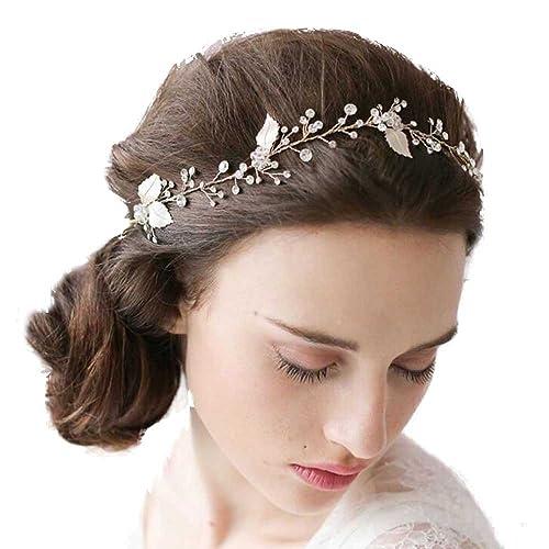 Gracewedding Fermaglio per capelli a forma di vite per sposa fiori di  cristallo vintage fatti a mano  Amazon.it  Gioielli d0c34d58b828