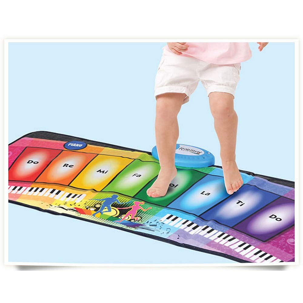 Play Keyboard Mat Foldable Floor Keyboard Piano Dancing Activity Mat 32 Inches 8 Keys Musical Keyboard Playmat With Demo Memory Play Touch-sensitive Step And Play Instrument Toys For Toddlers Kids Chi by GAOCAN-gq (Image #3)